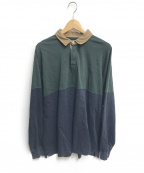 THE NORTHFACE PURPLELABEL()の古着「Big Rugby Shirt」 ネイビー×グリーン