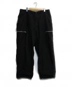 SSZ(エスエスゼット)の古着「PARASITE ZIP PANTS」|ブラック