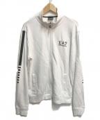 EA7(イーエーセブン)の古着「スウェットトラックジャケット」 ホワイト