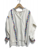 ()の古着「インド刺繍ブラウス」 ホワイト