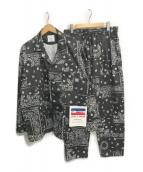 ()の古着「ペイズリーセットアップ」|ブラック
