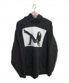 Calvin Klein Jeans(カルバンクラインジーンズ)の古着「ICON PRINTED HOODIE」 ブラック