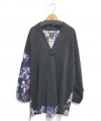 SOU・SOU(ソウソウ)の古着「半衿風靡」|ブラック×パープル