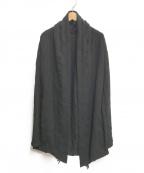 kiryuyrik(キリュウキリュウ)の古着「フリンジショールカーディガン」|ブラック