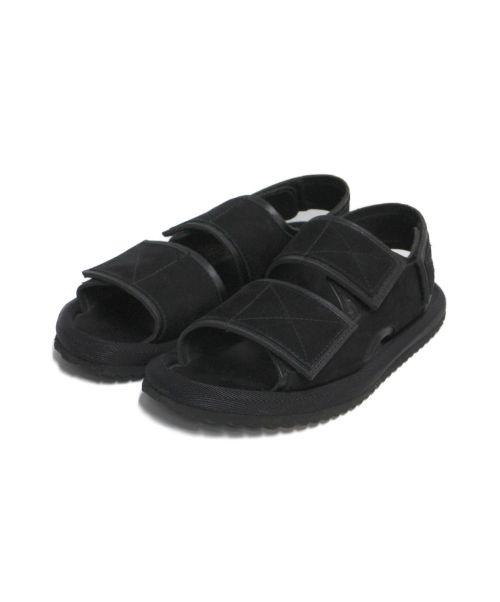 ALMOSTBLACK(オールモストブラック)ALMOSTBLACK (オールモストブラック) LEATHER SANDAL ブラック サイズ:記載なしの古着・服飾アイテム