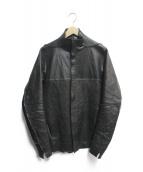 ()の古着「Bonding Horse Leather Shirt」|ブラック