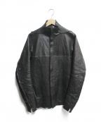 D.HYGEN(ディーハイゲン)の古着「Bonding Horse Leather Shirt」 ブラック