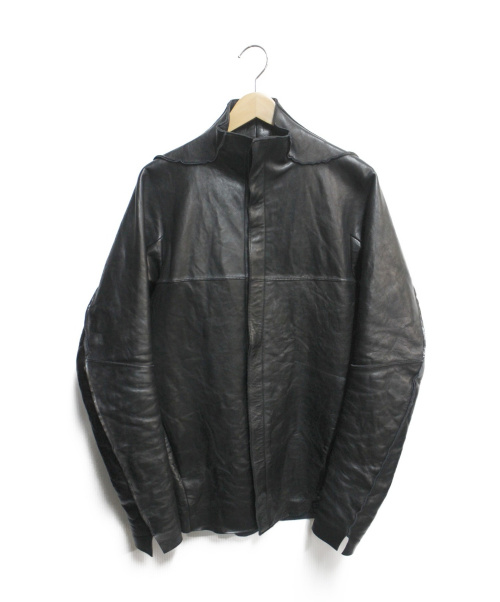 D.HYGEN(ディーハイゲン)D.HYGEN (ディーハイゲン) Bonding Horse Leather Shirt ブラック サイズ:3の古着・服飾アイテム
