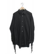 ()の古着「Ribbon Shirt」|ブラック