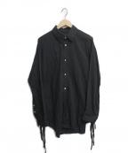 BED J.W. FORD(ベッドフォード)の古着「Ribbon Shirt」|ブラック