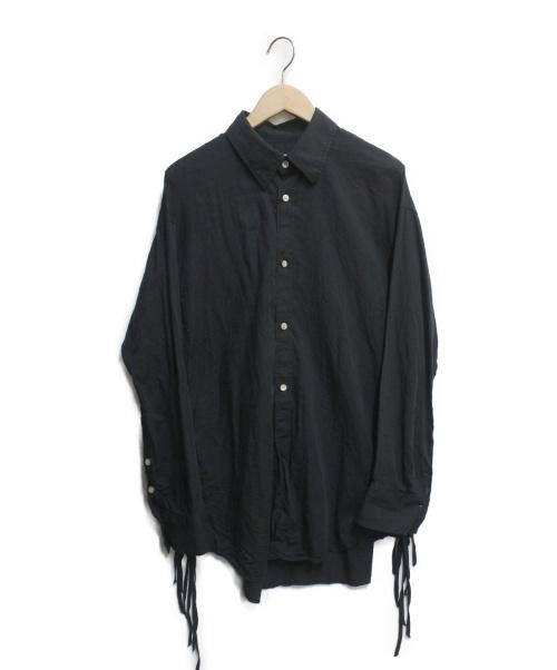 BED J.W. FORD(ベッドフォード)BED J.W. FORD (ベッドフォード) Ribbon Shirt ブラック サイズ:1の古着・服飾アイテム