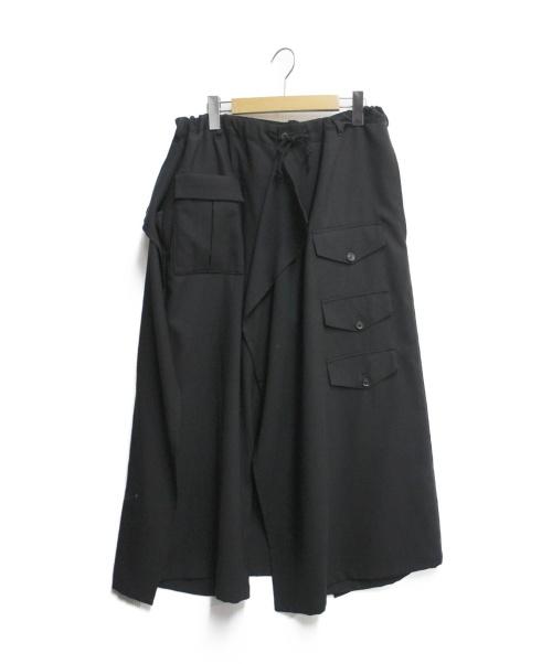 B Yohji Yamamoto(ビーヨウジヤマモト)B Yohji Yamamoto (ビーヨウジヤマモト) ヴィンテージクロスB/3フラップスカパン ブラック サイズ:SIZE 1の古着・服飾アイテム