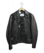 ()の古着「別注エコレザーブルゾン」|ブラック
