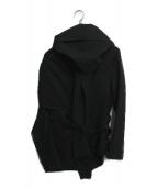 ()の古着「ストールドッキングサッカージャケット」|ブラック