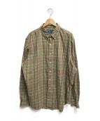 ()の古着「チェックBDシャツ」 ブラウン