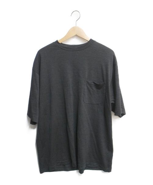 COMOLI(コモリ)COMOLI (コモリ) ウール天竺半袖クルー ブラック サイズ:SIZE 3の古着・服飾アイテム