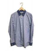 COMME des GARCONS HOMME(コムデギャルソン オム)の古着「ストライプクレリックシャツ」|ブルー
