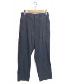 ()の古着「BAGGY TAPERED HALF EASY PANTS」|ネイビー
