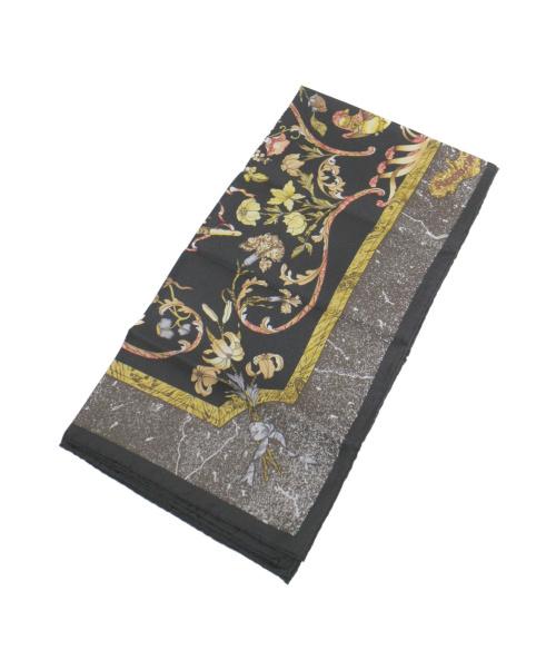 HERMES(エルメス)HERMES (エルメス) カレ90 ブラック×ブラウンの古着・服飾アイテム