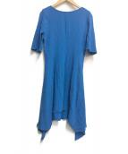 STELLA McCARTNEY(ステラマッカートニー)の古着「アシメデザインフレアワンピース」|ブルー