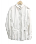 ()の古着「ウエストドロストブラウス」 ホワイト