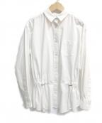 sacai luck(サカイ ラック)の古着「ウエストドロストブラウス」 ホワイト
