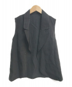 LIMI feu(リミフゥ)の古着「ベスト」|ブラック