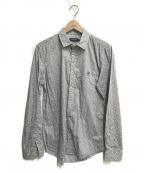 BLACK LABEL CRESTBRIDGE()の古着「フラワープリントシャツ」 グレー×ブルー