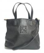 FENDI()の古着「ズッカロゴ2WAYショルダーバッグ」|ブラック