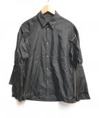 ALMOSTBLACK(オールモストブラック)の古着「デザインナイロンシャツ」 ブラック