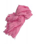 ()の古着「シルクレーヨンスカーフ」 ピンク