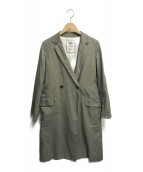 SLOBE IENA(スローブ イエナ)の古着「コットンツイルロングチェスターコート」|グリーン