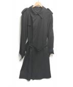 MIHARA YASUHIRO(ミハラヤスヒロ)の古着「ウールトレンチコート」|ブラック
