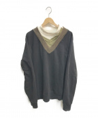 Maison Margiela 10(メゾンマルジェラ 10)の古着「トリプルレイヤードスウェットプルオーバー」 ブラック