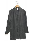()の古着「リネンコート」|ブラック