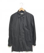 YOHJI YAMAMOTO(ヨウジヤマモト)の古着「Back Open Chain Stitch Sew Shi」|ブラック