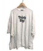 ()の古着「Think BIG オーバーサイズ Tシャツ」|ホワイト×ブラック