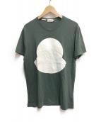 MONCLER(モンクレール)の古着「LOGO PRINT T-SHIRTS」|グリーン