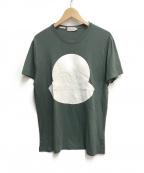 MONCLER()の古着「LOGO PRINT T-SHIRTS」|グリーン