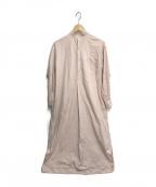 leno(リノ)の古着「BAND COLLAR PULLOVER DRESS」|ピンク