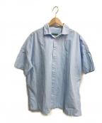 CASEY CASEY(ケーシーケーシー)の古着「WAGA SS SHIRT」 サックスブルー