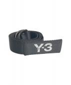 Y-3(ワイスリー)の古着「ロゴプリントリングベルト」 ブラック