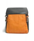 ()の古着「テクノキャンバス バックパック」|ブラック×オレンジ