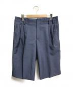 BALENCIAGA()の古着「4タックウールショーツ」|ブルー