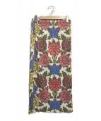 PLEATS PLEASE(プリーツプリーズ)の古着「フラワープリントプリーツスカート」 マルチカラー
