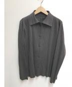 PLEATS PLEASE(プリーツプリーズ)の古着「プリーツジャケット」|ブラック
