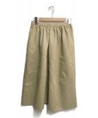 ()の古着「タックプリーツスカート」 ベージュ