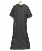 EMMEL REFINES(エメル リファインズ)の古着「ハンドウォッシャブルサイドボタンワンピース」|ブラック