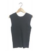 ()の古着「ニット&クロシェスカートセット」 ブラック×ホワイト