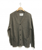 MHL(エムエイチエル)の古着「Vネックカーディガン」|ブラウン